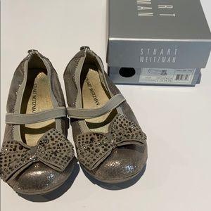 Girls Stuart Weizmann Shoes Fannie Jewel Strap